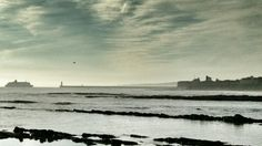 Ferry heading into tynemouth