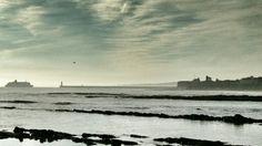 Ferry heading into tynemouth