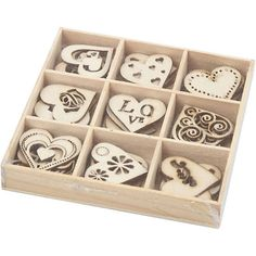 45 wooden Hearts to personalise and Make you Own Jewelry or design your own home decor. Love Heart Wood Embellishment. Wood Craft Supplies #wood #ad #wedding