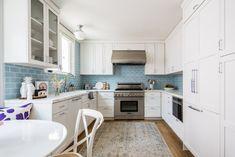 Coastal Kitchen Blue Backsplash - Beach Style - Kitchen - San Francisco - by Fireclay Tile Kitchen Cabinets And Granite, Contemporary Kitchen Cabinets, Granite Countertop, Oak Cabinets, Beach Theme Kitchen, Kitchen Themes, Kitchen Ideas, Kitchen Designs, Blue Backsplash