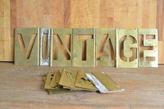 Interlocking Alphabet Stencil Set, £50.00 Alphabet Stencils, Collections