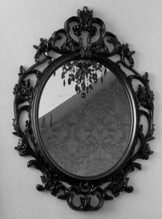 Wonderful gothic home decor. you're so vain you probably think this mirror is for you don't you don't you! Lighted Wall Mirror, Mirror With Lights, Wall Mirrors, Gothic Mirror, Gothic Vanity, Baroque Mirror, Victorian Mirror, Die Renaissance, Furniture Makeover