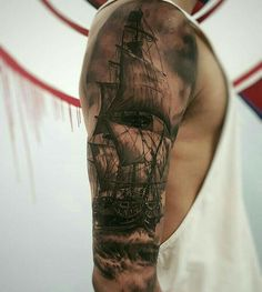 Ship, tattoo More