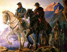 Biografia de José de San Martín  San Martín y O'Higgins en la travesía de los Andes