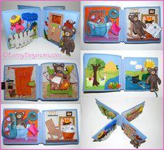 Teddyhaus für unterwegs Spielhaus aus Wollfilz Quiet book - teenytinymom - Klitzekleine Mama - DIY - Reiseblog Oregon                                                                                                                                                      Mehr