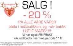 HJERTEHJORT: SALG!!! Å jadda! March- Sale!!