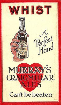 Beer Advertisement, Advertising, Drinks Cabinet, Malt Whisky, Edinburgh, Brewery, Card Games, Ale, Cards