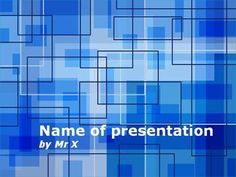 Blue Pipes Powerpoint Template