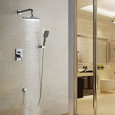 Bathroom-Rainfall-Wall-Mounted-With-Handheld-Shower-Head-Faucet-Set-Mixer