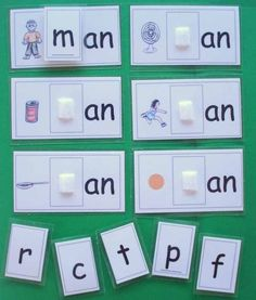 Easy Phonics game to help children understand initial sounds and end blends…