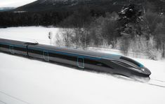 Aurora high-speed train, project by Henning Rekdal Nielsen - Ego - AlterEgo Rail Transport, Public Transport, Concept Architecture, Amazing Architecture, Speed Training, Strength Training, Rail Train, High Speed Rail, Rail Car