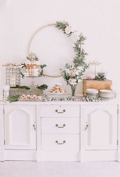 Boho girl's baby shower