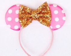 sequinence mickey mouse ears – Etsy