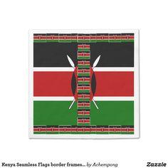 "Kenya Seamless Flags border frames paper napkins  #Top departments for ""hakuna matata Kenya flag #colors"""
