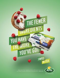 food campaign Print, poster and digital campaign introducing Arla cream and sliced cheese to the US market. Food Design, Food Graphic Design, Food Poster Design, Creative Poster Design, Ads Creative, Web Design, Creative Posters, Graphic Design Posters, Food Advertising
