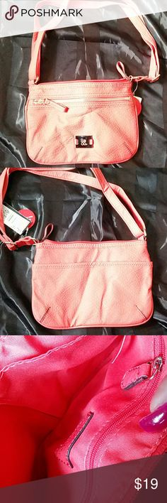 """PASSPORT XBODY POPPY Nice small orange xbody bag Non leather material size:  6""""x5"""" Very cute Style & Co Bags Crossbody Bags"""