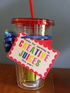 End of the year teacher gift. Might have to do these for my online teachers in Pittsburg!