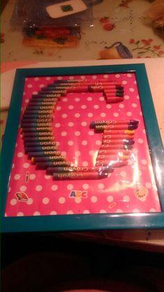 Anagrama Letra G crayolas