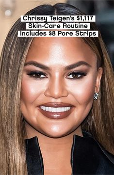 *Immediately adds to cart* #ChrissyTeigen Celebrity Beauty, Cart, Routine, Glamour, Skin Care, Celebrities, Covered Wagon, Celebs, Celebrity