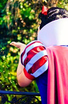 Snow White blowing Magic!  <3