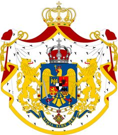 Coat of Arms of the Kingdom of Romania, and Ferdinand I of Romania, husband of Marie Romanian Royal Family, Germany And Prussia, Ottoman Turks, Europe, Royal House, Family Crest, Ottoman Empire, Crests, My Heritage