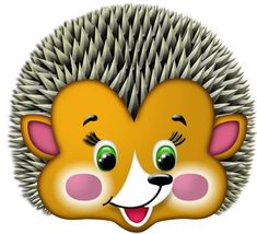 hedgehog mask-how cute! Cute Images, Cute Pictures, Cool Clipart, Printable Masks, Mask Template, Kids Corner, Disney Wallpaper, Drawing For Kids, Paper Dolls