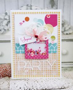 Shaker Gift Box Card by Melissa Phillips for Papertrey Ink (November 2015)