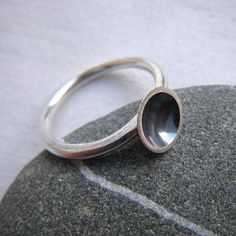 Small Silver Curious Crater Ring by hybrid handmade, Cari-Jane Hakes from the Essential Simplicity Series