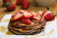 Easy, Pleasy Strawberry Protein Pancakes - To Live & Diet in LA
