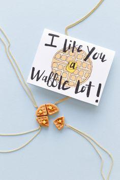 DIY Food Friendship Necklaces + Floating Specks Printable cards | Studio DIY®