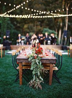 Outdoor reception garden wedding