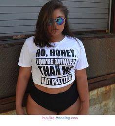 Plus size swimsuit confidence inspo Women Big Size Clothes - http://amzn.to/2ix7dK5