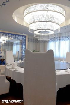 A massive chandelier to make a massive design statement… Love it! #Standardproducts #Lighing #InteriorDesign