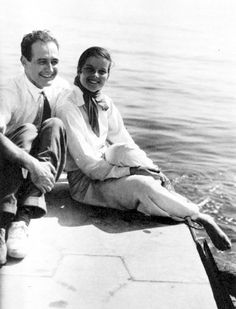 Katharine Hepburn and her first and only husband, named Ludlow Ogden Smith.