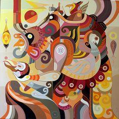 Fernando Chamarelli- Eu vim de muito longe - acrylic on canvas - 100x100cm - 2014