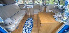 Custom interior for '66 Splitscreen VW Campervan