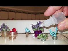 Diy Dollhouse, Dollhouse Miniatures, Container Plants, Flower Pots, The Creator, Flower Vases, Plant Pots, Doll House Miniatures, Planters