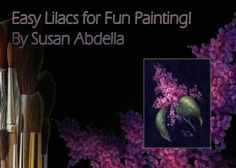 E-Painting Pattern - Easy Lilacs for Fun Painting by Susan Abdella