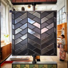 New tile board at Heath SF made with half hex tiles. (at Heath Ceramics San…