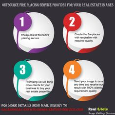 Outsource fire placing service provider for your real estate images Infographic Real Estate Business, Design Services, Image Editing, Plan Design, Your Image, Service Design, Infographic, Fire, Floor