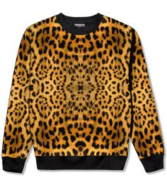 """The """"Leopard print Crew"""" by Underatedco use repcode FRESHYFRESH19 for 15%OFF your purchase at http://www.underatedco.com/collections/outerwear/products/leopard-print-sweathirt"""