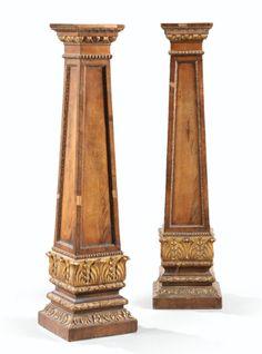 Paire de gaines en acajou et bois doré,travail anglais d'époque Regency, vers 1815 | lot | Sotheby's