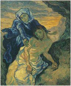 Pietà (after Delacroix), The  Painting, Oil on Canvas  Saint-Rémy: September, 1889  Van Gogh Museum  Amsterdam,
