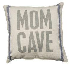 Rustic Mom Cave Linen Pillow