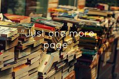 Just one more book...  #books #reading #mytumblr