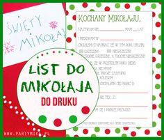 List do Mikołaja - darmowy szablon do druku! - partymika