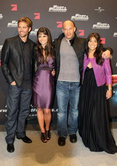 Paul Walker, Jordana Brewster, Vin Diesel, Michelle Rodriguez