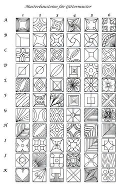 Pattern sheet for zentangle