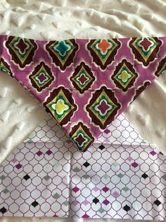 Purple multi-coloured reversible bandana  $5 from every sale will go to the French Bulldog Rescue Network  All bandanas are designed for your collar