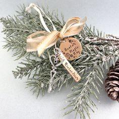 Santa's Magic Key, Personalized Santa Key, Christmas Ornament, Hand Stamped Santa Key Ornament With Family Name